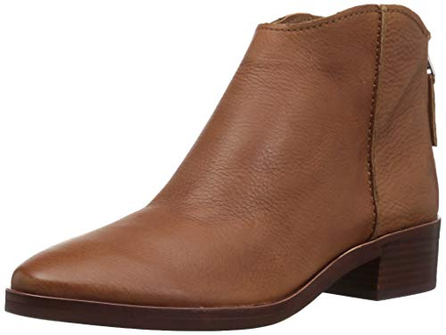 (Dolce Vita Women's Tucker Ankle Boot, Brown Leather, 6.5 M US)