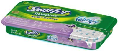 Swiffer Sweeper Wet Mopping Pad Refills for Floor Mop with Febreze Lavender Vanilla & Comfort Scent 12 Count (Swiffer Mop And Broom Refills compare prices)