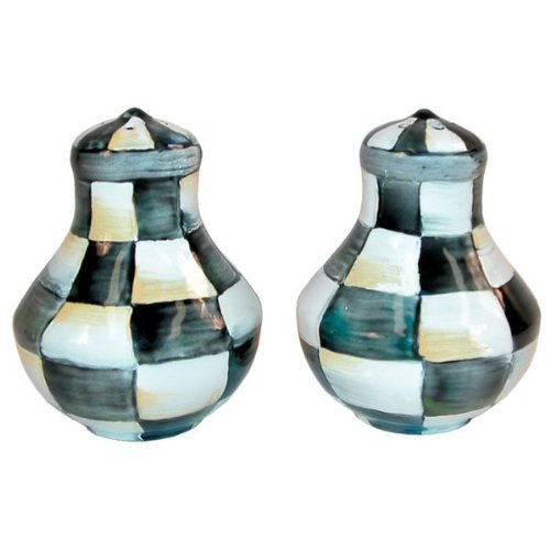 Courtly Check (MacKenzie-Childs Enamel Salt & Pepper Shakers-Courtly Check )