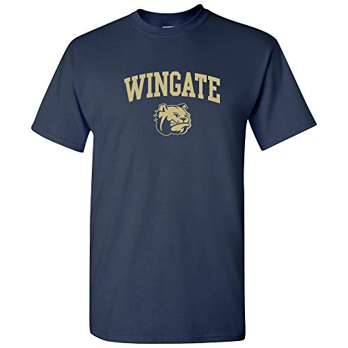 University Bulldogs Football - UGP Campus Apparel AS03 - Wingate University Bulldogs Arch Logo T-Shirt - 2X-Large - Navy