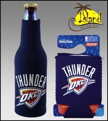 セットの2 Oklahoma Thunder Can & Bottle Koozie Cooler B002UKKQXE