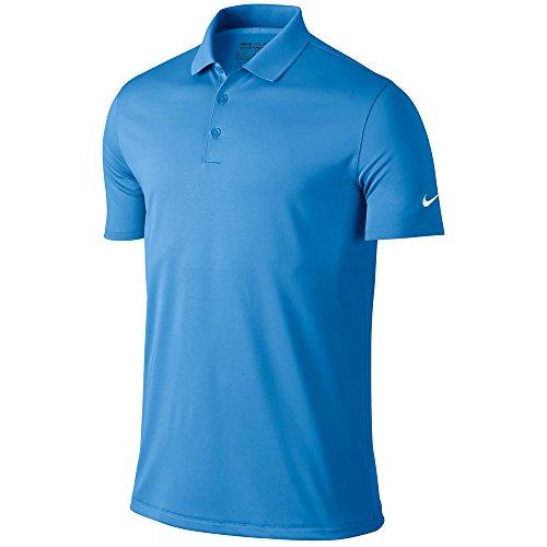 Nike Mens dry Victory Polo, University Blue/White, (Knit Nike Dri Fit)