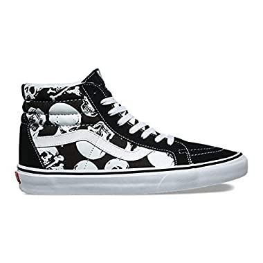 789e943ee0 Vans Unisex Shoes SK8 Hi Reissue (Skulls) Black White Skate Sneakers (9.5