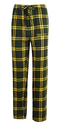 Concepts Sport Men's NCAA-Homestretch-Plaid Sleepwear Pajama Pants-Oregon Ducks-Large -