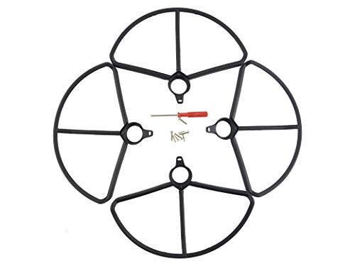 Fytoo 4PCS Protective Cover for HS700 HS700D brushless Four-axis Aircraft Upgraded Accessories Drone Anti-Collision Ring (Black)