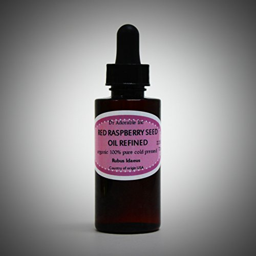 Red Raspberry Seed Oil REFINED Organic Cold Pressed 100% Pure 2.2 Oz with Glass Dropper