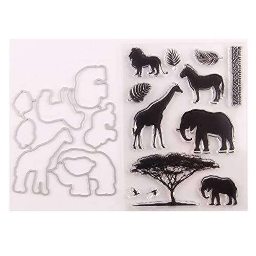 Animals Seal Stamp with Cutting Dies Stencil Set DIY Scrapbooking Embossing Photo Album Decorative Paper Card Craft Art Handmade