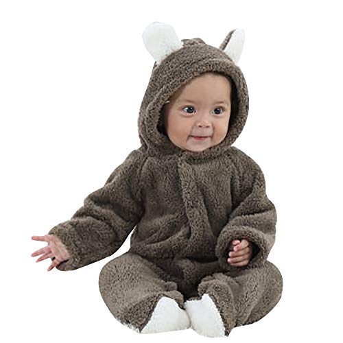 VEKDONE Fleece Baby Bunting Onesie Jacket - Infant Pajamas Winter Outerwear Coat -