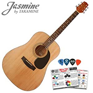 jasmine by takamine s35 acoustic dreadnought guitar planet waves 16 pick sampler. Black Bedroom Furniture Sets. Home Design Ideas