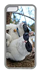 iPhone 5C Case, Customized Protective Soft TPU Clear Case for iphone 5C - Cool Cats Cover