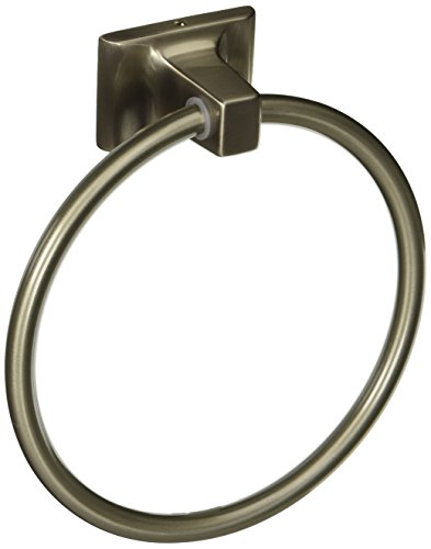 - Hardware House 689463 Sunset Collection Towel Ring, Satin Nickel
