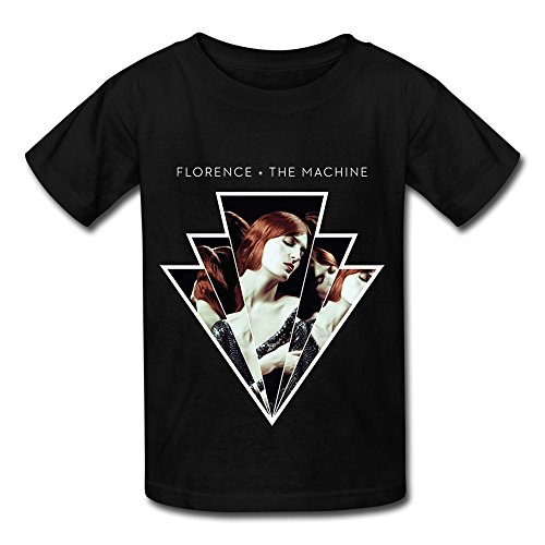 Florence And The Machine World Tour 2016 T Shirt For Big Boys' Girls' Black M