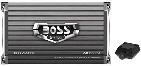 Boss Audio AR1500M 1500W MONO Car Amplifier Power Amp+Remote+High//Low Converter