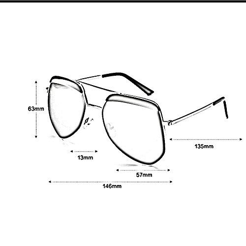 de libre definición alta de polarizadas Gafas sol al pareja solar moda la Gafas la sol Gafas de retra gafas de de la de la 01 protección de 06 Color de viaje aire sol ZHIRONG las de del sol qRS0S
