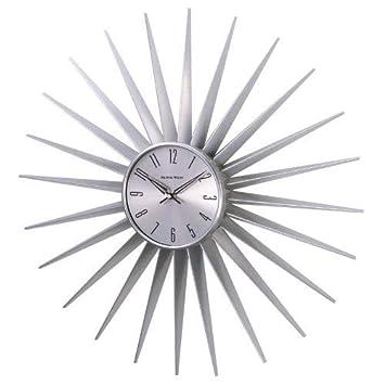 Telechron Sunburst Clock, Silver