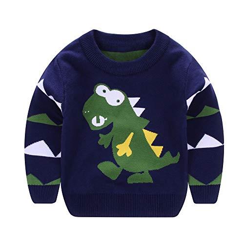 BBsmile Camisetas para 1-5 Años, Niñas Niños de Manga Larga de Dibujos Animados Dinosaurio Tops Suaves Camiseta Sudaderas Bebé Reborn Ropa de Abrigo: ...