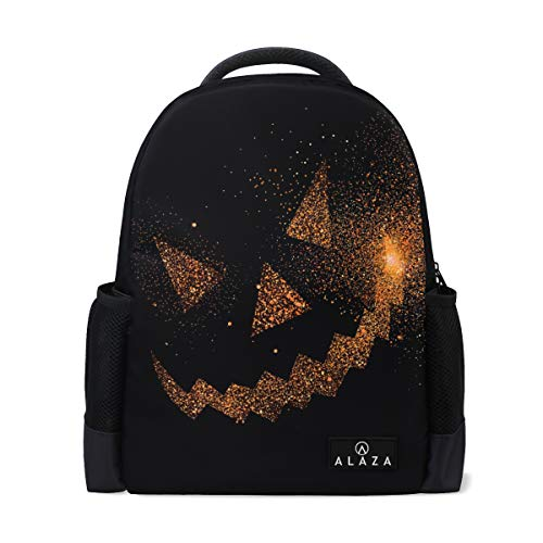 My Daily Halloween Face Jack O' Lantern Backpack 14 Inch Laptop Daypack Bookbag for Travel College School