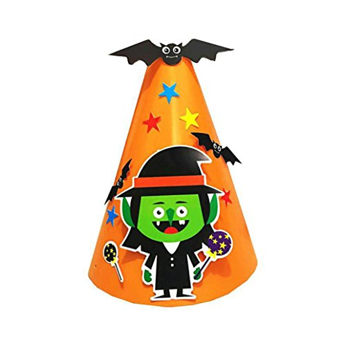 SOthread Halloween cosplay DIY Paper Cartoon Hat party Ornament kid Children gift (Wizard Of Oz Costumes Diy)