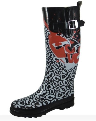 Sweet Beauty Womens Rubber Rain Boots Graffiti Print Wr9125 N11,12,13,10