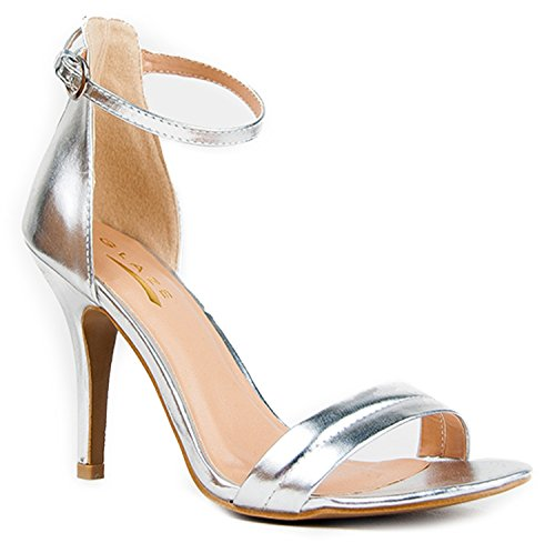 Silver high heels size 6 - StoreIadore