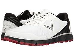 Callaway Men's Balboa Vent Golf Shoe, Whiteblack, 12 2e Us