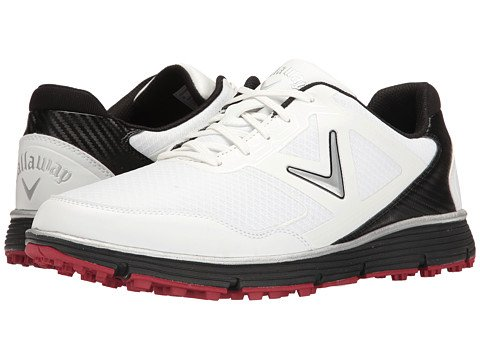 Callaway Men's Balboa Vent Golf Shoe, White/Black, 12 D US