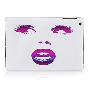 AES - Purple Lips Girl Pattern Plastic Back Case for iPad mini