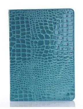 New iPad 9.7 inch 2018 2017 Case, iPad 6th Generation case LIVITECH Crocodile Pu Leather Folio Smart Cover Case Hard Cover Light-Weight Wake Sleep for Apple iPad 9.7 inch (Blue) (Crocodile Effect Leather)