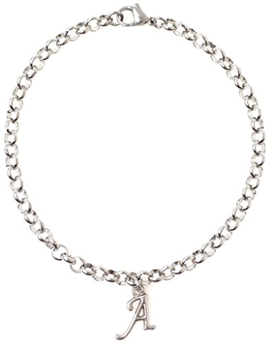 """Personalize Jewelry (Adjustable 8.5"""" Stainless Steel Bracelet with Alloy Initial. Personalize with Clip on Charms (Letter A) SSRB 65A)"""