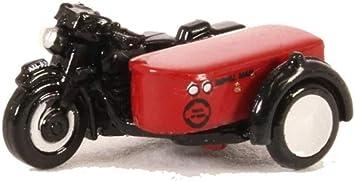 BNIB N GAUGE OXFORD DIECAST 1:148 NBSA003 MOTORBIKE /& SIDECAR ROYAL MAIL