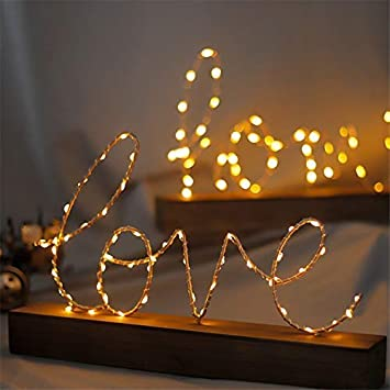 Amazon Com Miss Aj Battery Operated Led Wooden Love Marquee