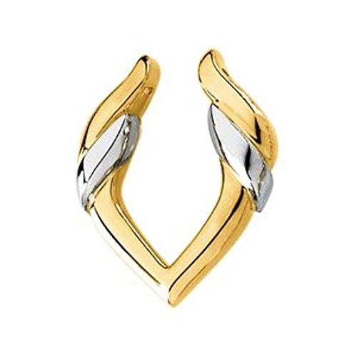 Pendant Enhancer in 14k Yellow & White Gold by Bonyak Jewelry