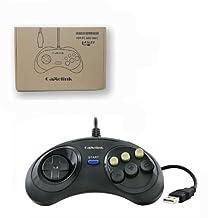 Childhood Sega Genesis Style USB Classic Controller Joy Pad for PC & MAC black