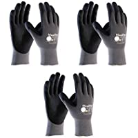 3 Pack 34-874 XXL MaxiFlex Ultimate Nitrile Grip Work Gloves Size XX-Large (3) by ATG