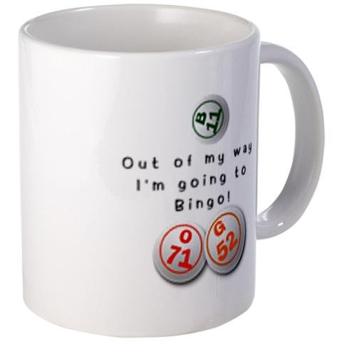 I'M GOING to Bingo Fan 11oz Ceramic Coffee Cup Mug by Creative Clam