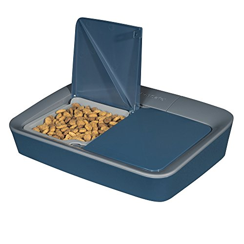 - PetSafe Digital Two Meal Dog and Cat Feeder, Dispenses Dog Food or Cat Food, LCD Display, Programmable Timer