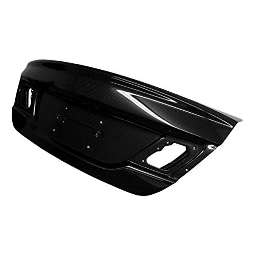 Brightt (VIS-VEP-689) OEM Style Trunk Carbon Fiber - Compatible for Honda Civic 2013-2014 (2013 2014 | 13 14)