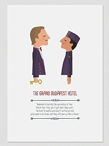 Grand Budapest Hotel Quotes Inspiration Print The Grand Budapest Hotel Available In Two Sizes A48 A48