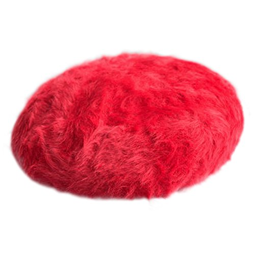 Women Rabbit Hair Stereo Solid Mink Cashmere Beret Thickened Winter Hat