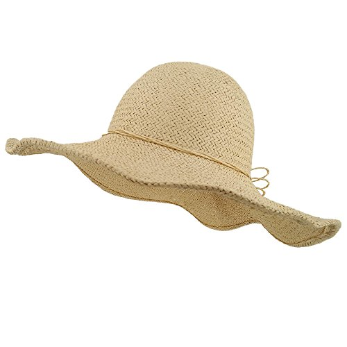 Straw Scarecrow Hat (LETHMIK Summer Beach Straw Hat Womens Wide Brim Floppy Packable Sun Hat Beige)