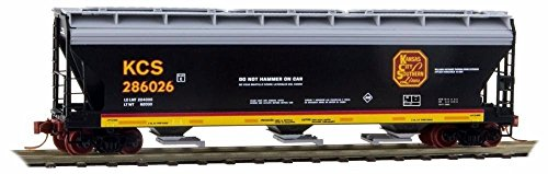 Micro Trains N Scale 3 Bay Covered Hopper  Kansas City Southern  286026