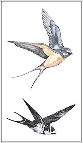 ljmljm 5pcs Hombro Impermeable Mosca pájaro del Tatuaje Etiqueta ...