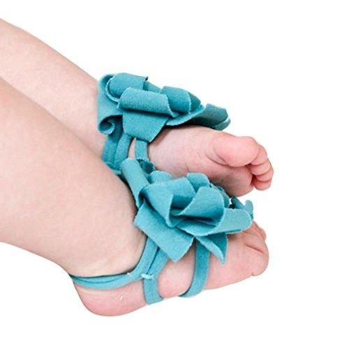 Koly 0-12M Bebé Calcetín Sandalias Pie Flor (Amarillo) Azul