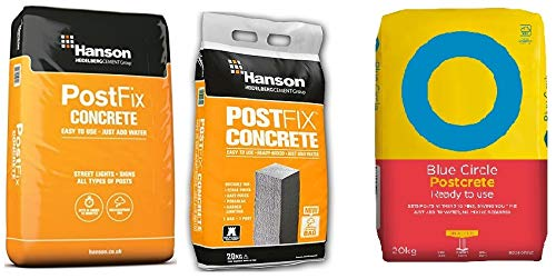 10 x 20kg Bags New Concrete Fence Gate Post Mix Lafarge//Hanson//Blue Circle Cement.