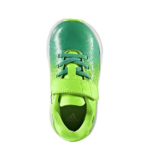 Adidas Rapidaturf X EL i, Scarpe per Allenamento Calcio Unisex – Bambini, Verde (Versol/Negbas/Verbas), 26 EU