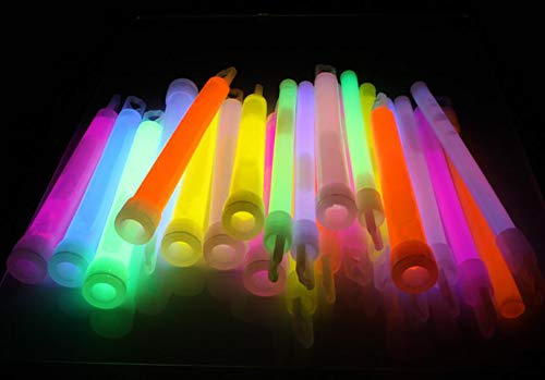 Lumistick 80 Count Jumbo Glowsticks - Ultra Bright 12 inch Long Giant 15mm Thick Flat Bottom Long Lasting Up to 12 Hours Party Light Sticks for Events, Camping, Emergency (Assorted, 80) by Lumistick (Image #6)