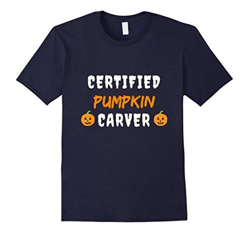 Mens Certified Pumpkin Carver T-Shirt Large (Pumpkin Carver Costume)