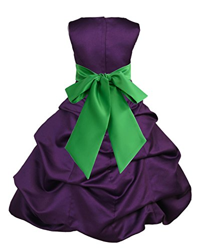 Wedding Pageant Purple Flower Girl Dress Holiday Occasions Junior 806s 16