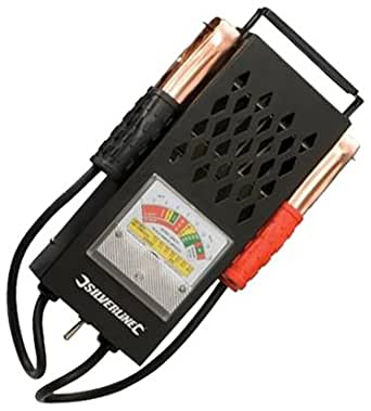 Silverline 282625 - Comprobador de baterías y cargadores 6 V y 12 V