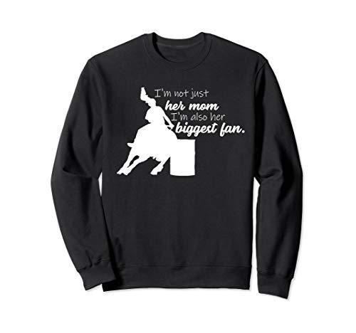 Barrel Racing Mom Cowgirl Horse Riding Graphic Design Racer Sweatshirt